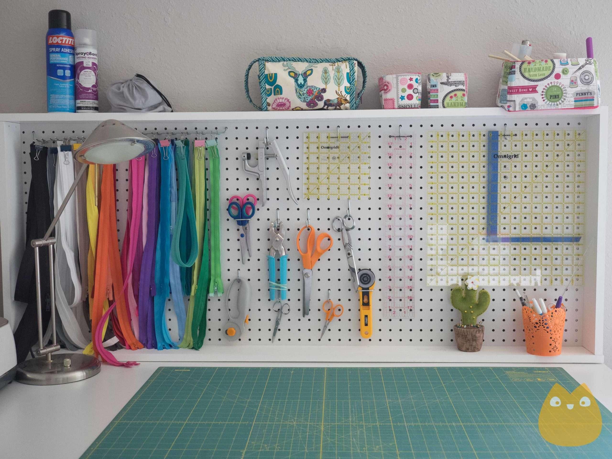 Organiser ses ciseaux et règles de couture